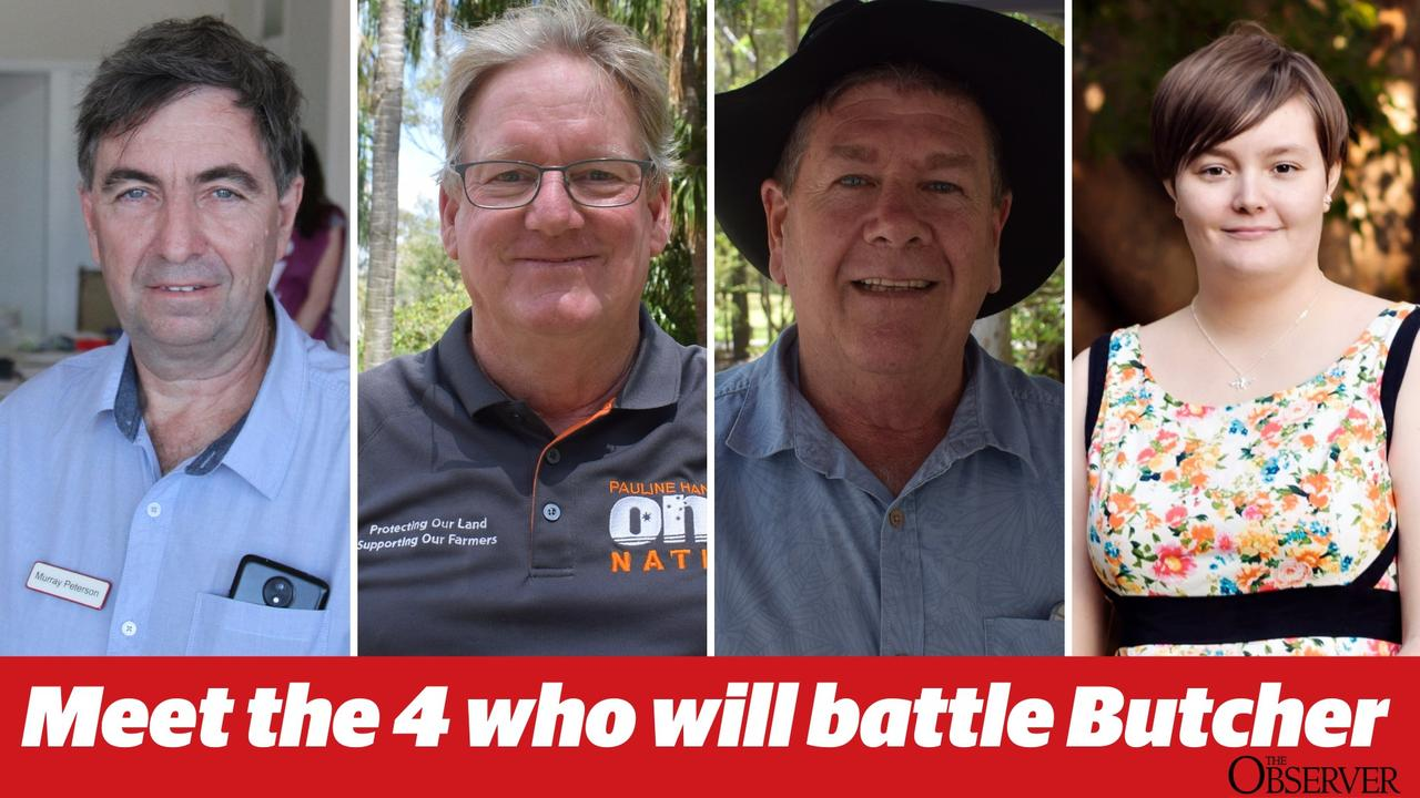 MEET THE CANDIDATES: Independent Murray Peterson, One Nation Kevin Jorgensen, LNP Ron Harding and Greens Emma Eastaughffe