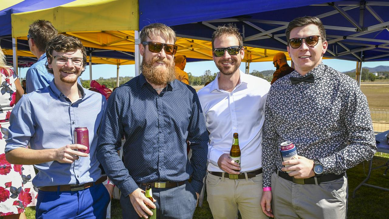 Dallas Brown, Greg Purdon, Ryan Pickles and Callum Granville at the Gladstone Cup Race Day in August last year.