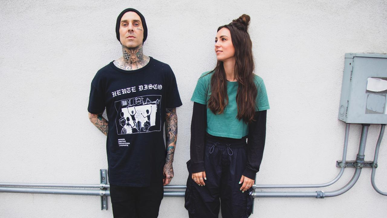 Amy Shark's new single features one of her Blink 182 fam members Travis Barker. Picture: Supplied