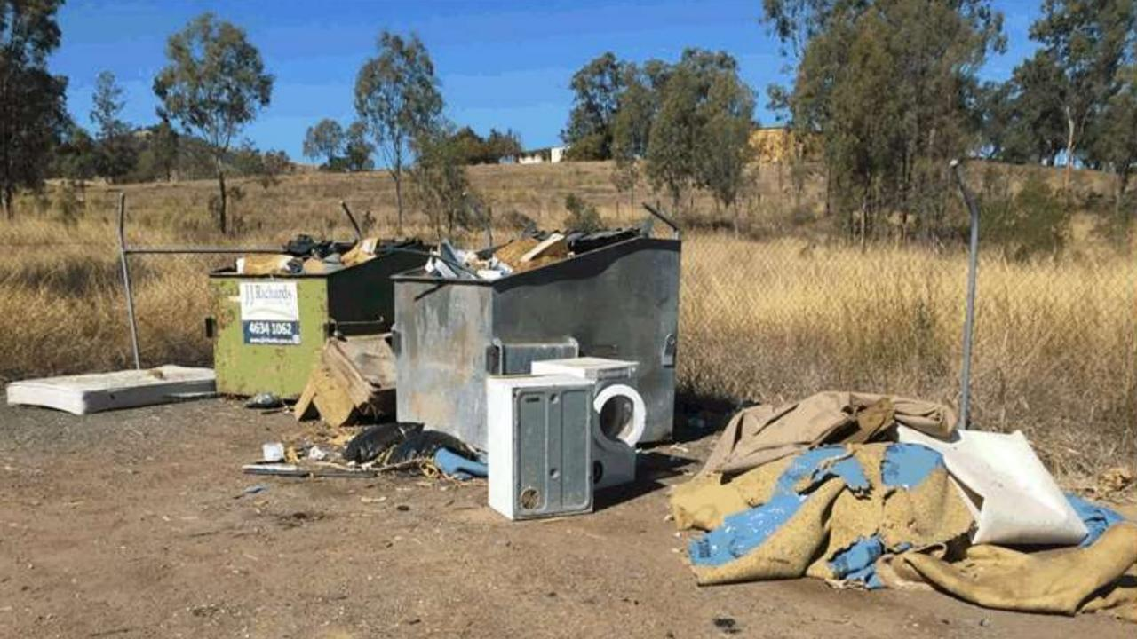 Rubbish left inappropriately at the Ropeley unmanned dumping site in the Lockyer Valley. Photo: LVRC.