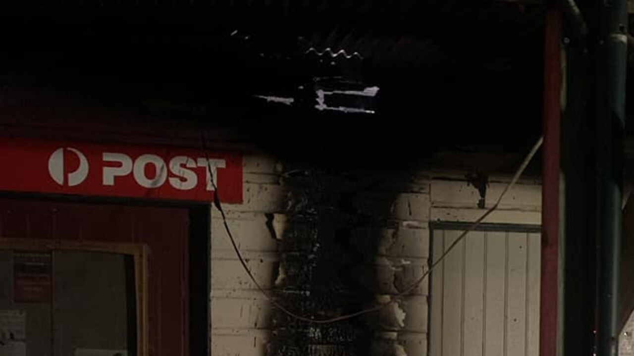 HISTORIC BUILDING FIRE: Firefighters from Fire and Rescue NSW and the Rural Fire Serive combined efforts to try and save an historic post office which was burning in the early hours of Wednesday October 21.