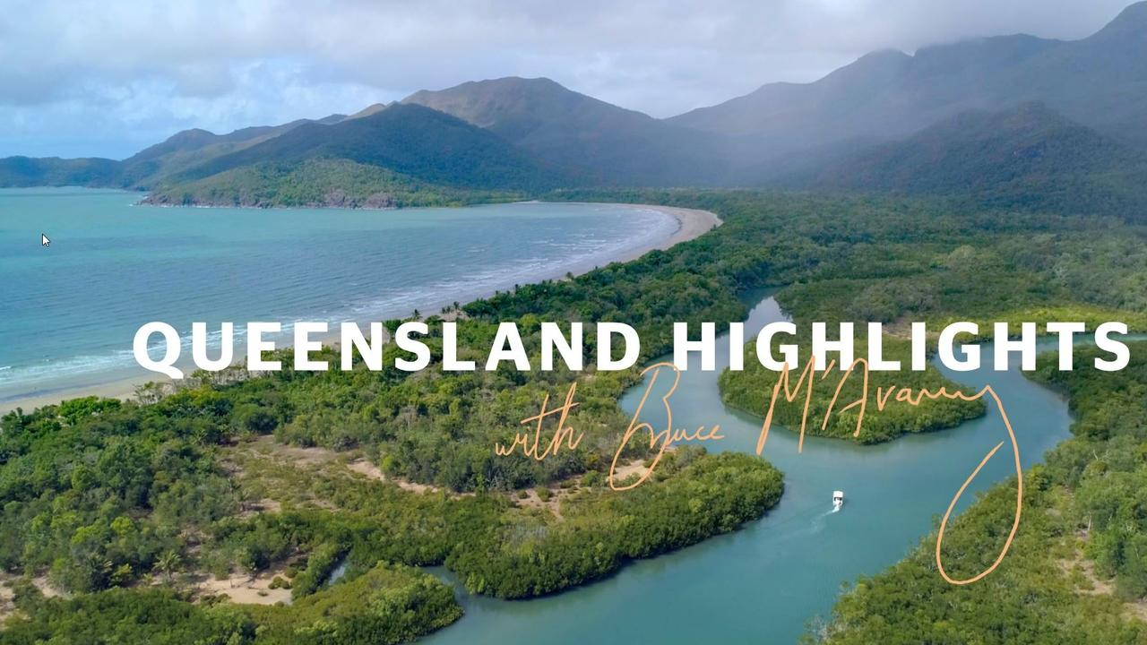Embargoed until midnight 20/10/20 – Images from one of the Tourism and Events Queensland ads to be voiced by Bruce McAvaney during the AFL grand final. Screen Shot Supplied.