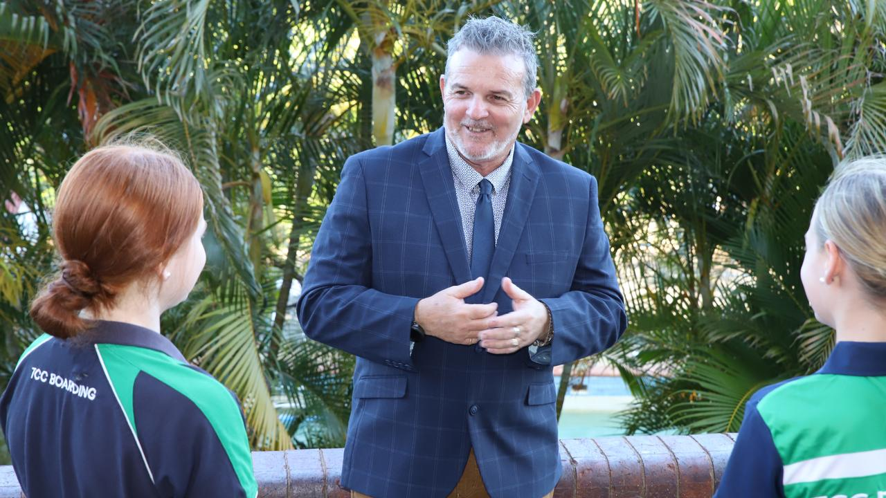 Ron Armstrong, The Cathedral College's Assistant Principal: Boarding, is in the running for running for a Queensland College of Teachers TEACHX Awards. Photo: Pauline Crow