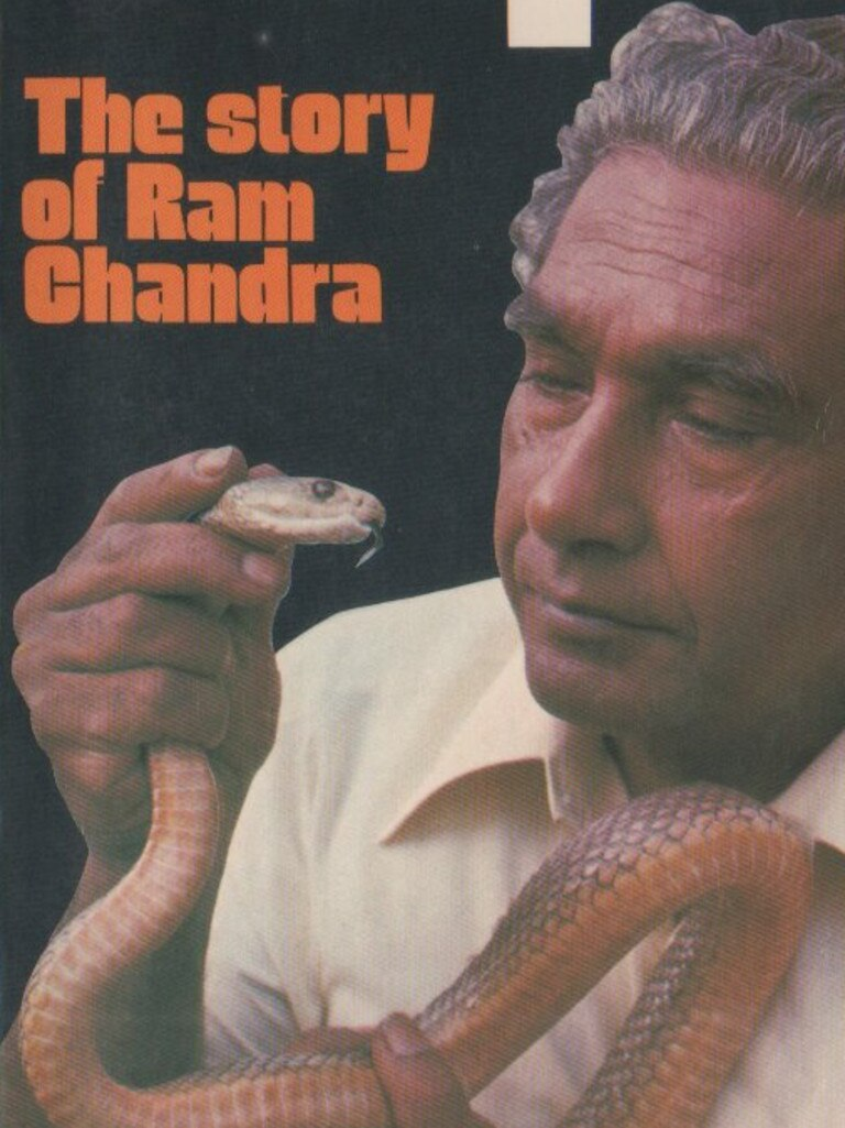 Ram Chandra pictured on the front cover of the 1977 book 'Search for The Taipan – The story of Ram Chandra'.
