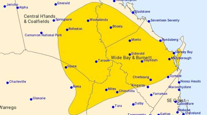 STORM WARNING: Severe thunderstorms to hit Wide Bay