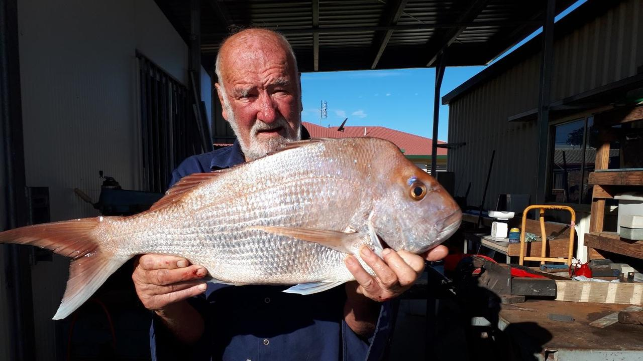 Kevin byrne with a fine local snapper