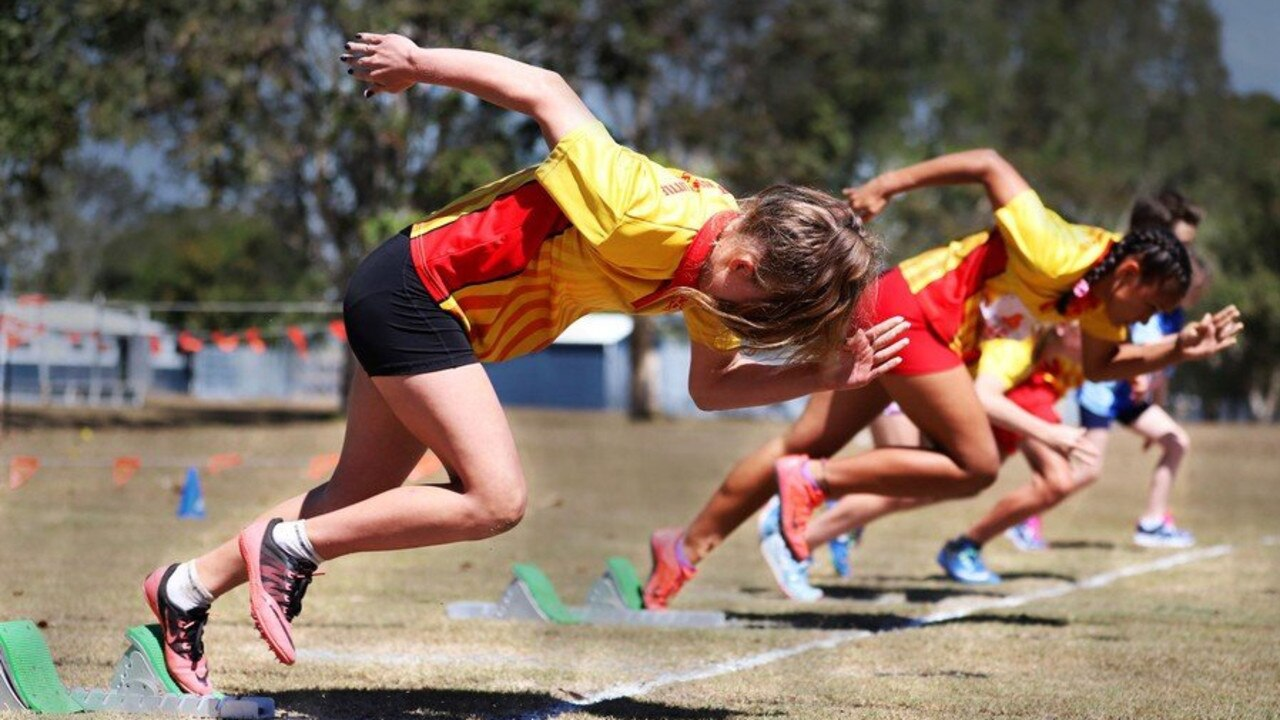 North Mackay Little Athletics member, Katie Lester bursts out of the blocks.