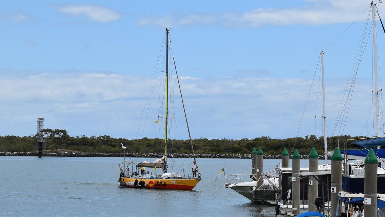 SAIL AWAY: Australian sailing legend Jon Sanders arrives at the Port of Bundaberg. Picture: Rhylea Millar