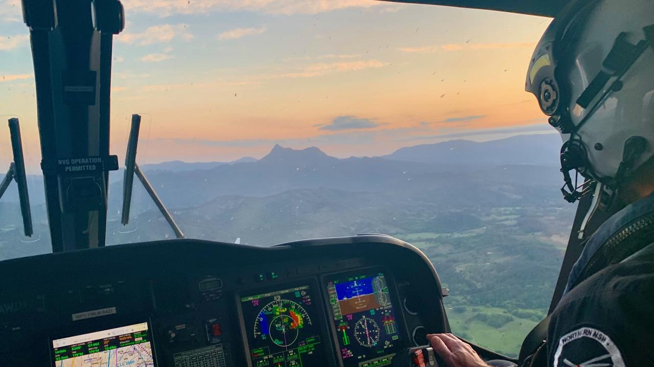 URGENT TRANSFER: A man, 58, was transferred fro a road ambulance to the Westpac Life Saver Helicopter Lismore Team who flew him to the Gold Coast University Hospital. File photo.