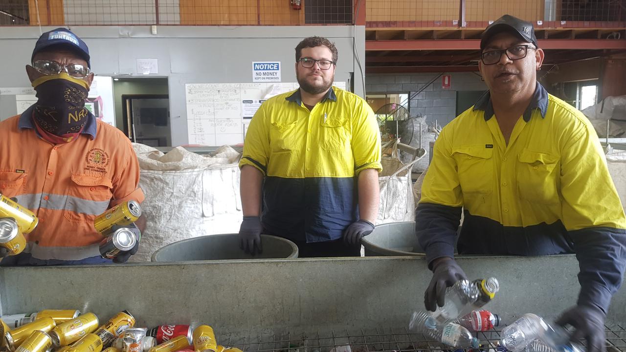 Kingaroy CRP employees George Bone, Danyon Mickelo, Joe Sullivan. (Picture: Contributed)
