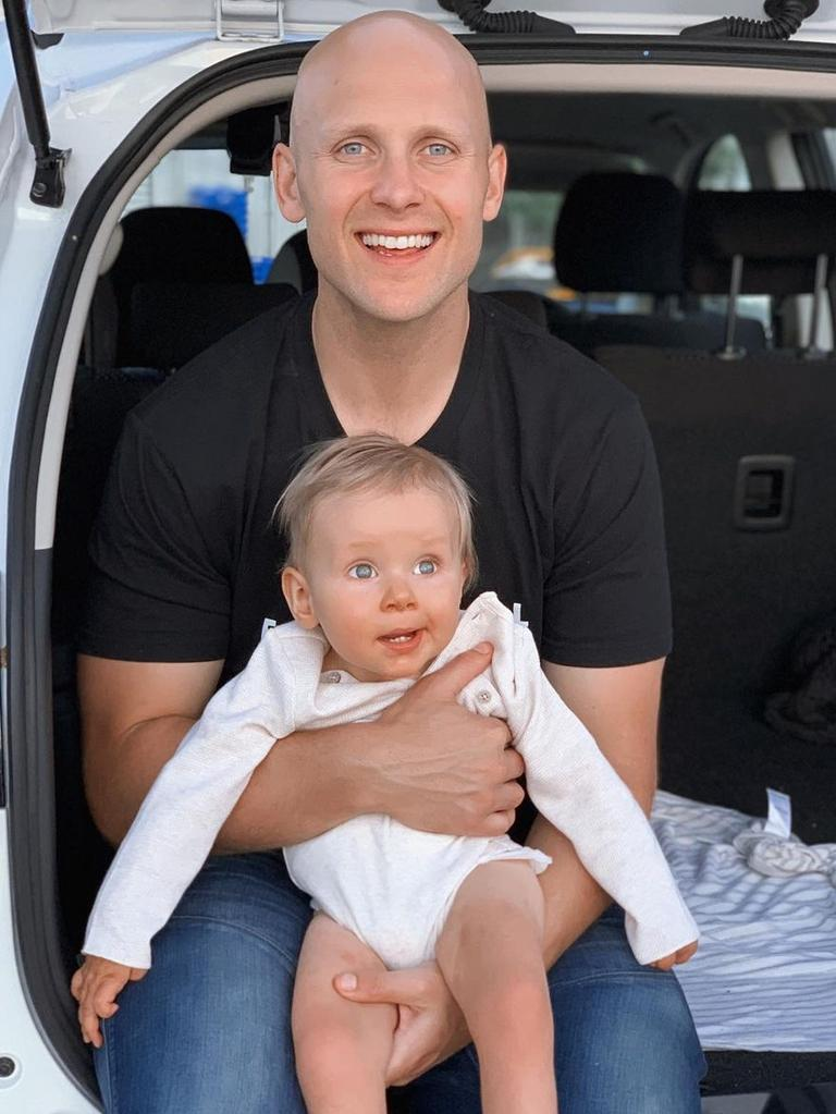 Gary Ablett and son Levi.