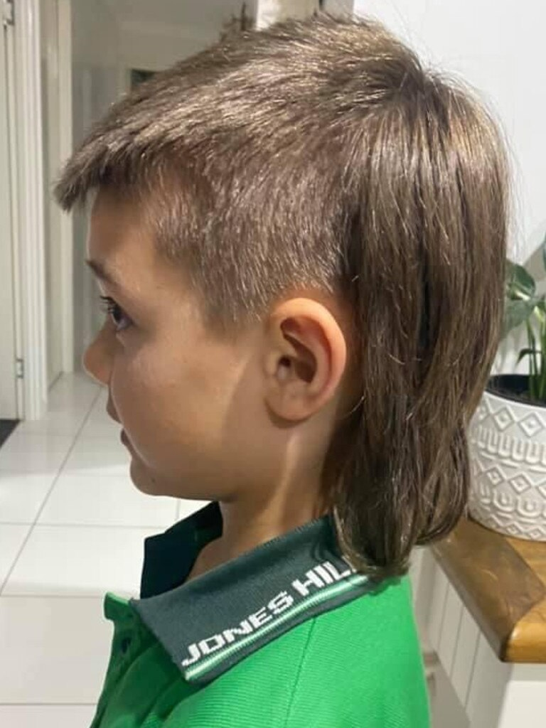 At only eight years old, Regan is a strong contender for Gympie's best mullet.
