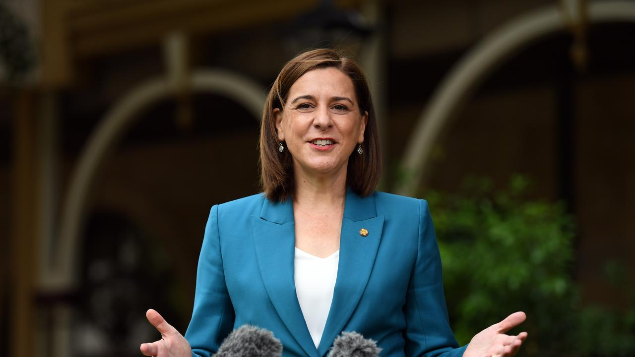 Queensland Opposition Leader Deb Frecklington is seen during a press conference at Parliament House in Brisbane, Tuesday, April 28, 2020.