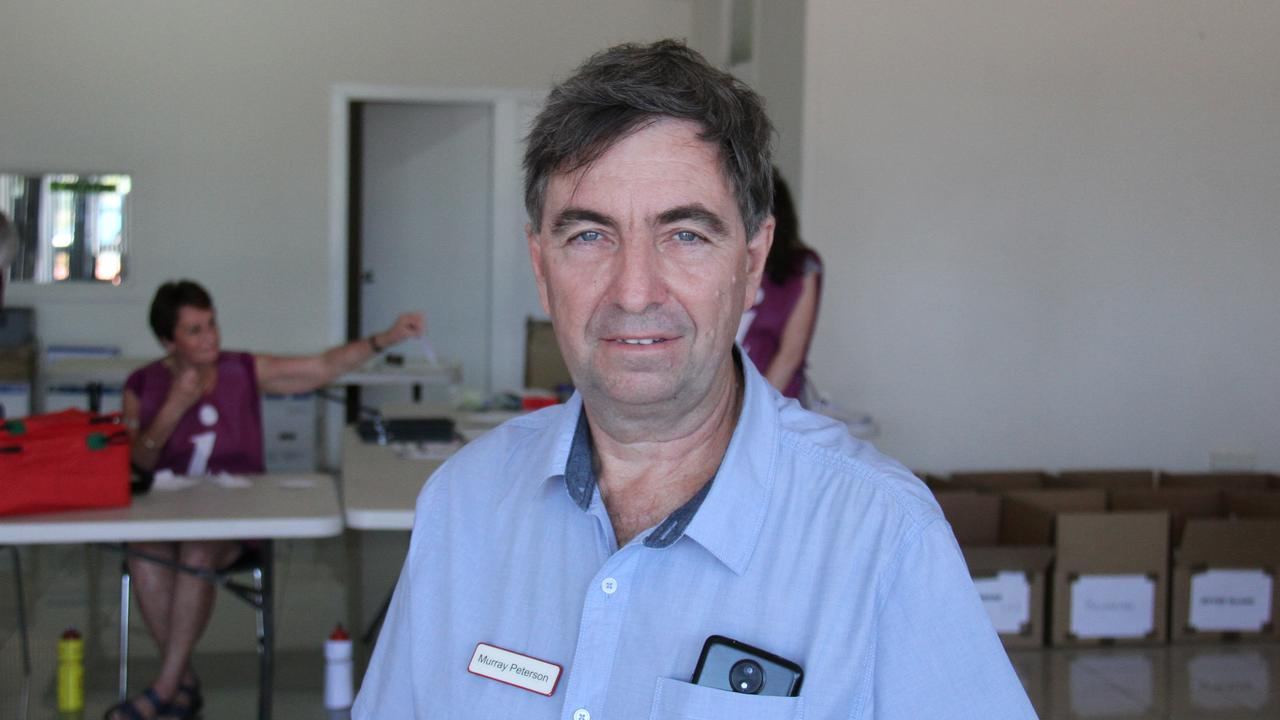 Independent candidate for Gladstone Murray Peterson at the 2020 state election ballot draw. Picture: Rodney Stevens
