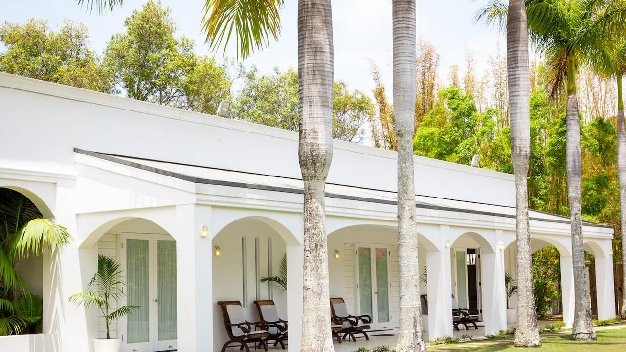 LUXURY RAJ STYLE: The Palace on Magnolia guesthouse at Byron Bay has topped a national list for Australia's most luxurious Airbnb accommodation. I sleeps 14 people in considerable luxury.