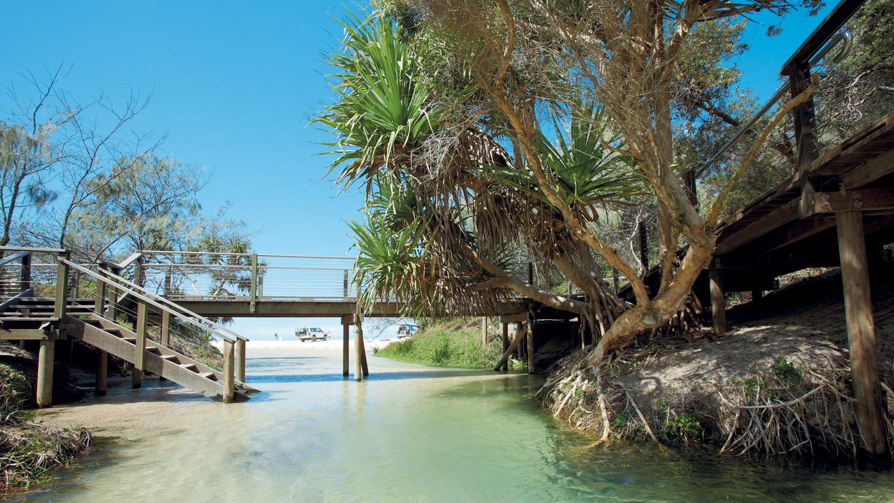 Fraser Island tourism plan for Queensland will include a cultural tourism centre with camping and a bush tucker tour on Fraser Island. Picture: Supplied