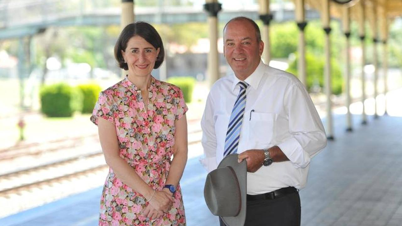 Gladys Berejiklian with disgraced MP Daryl Maguire. Picture: The Daily Advertiser/ACM