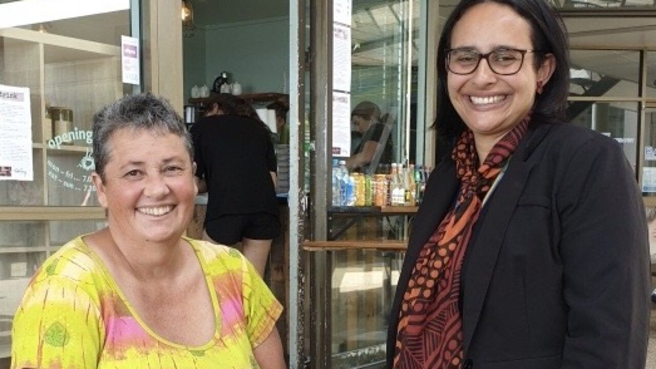 Deadly Weavers' Felicity Chapman and DATSIP Mackay's Rhiannon Minnieco. Picture: Supplied