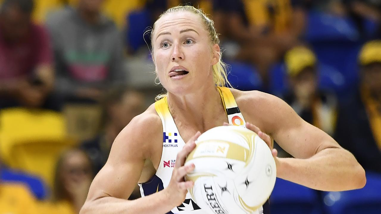 Sunshine Coast Lightning captain Laura Langman has called it time on her netball career. Picture: Albert Perez/Getty Images