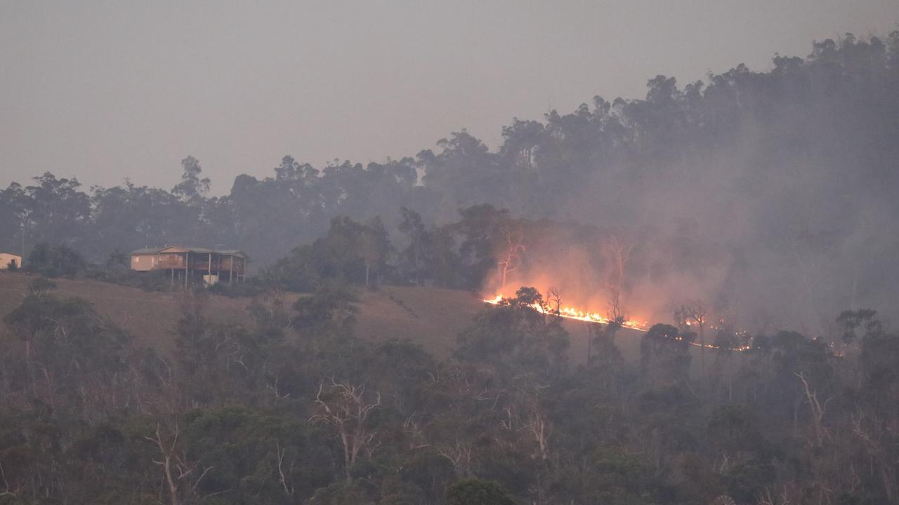 IGNITED: Fires burn close to properties near Yeppoon during this past bushfire season.