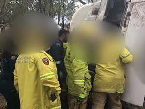 Truckie released from ICU after Western Downs rollover