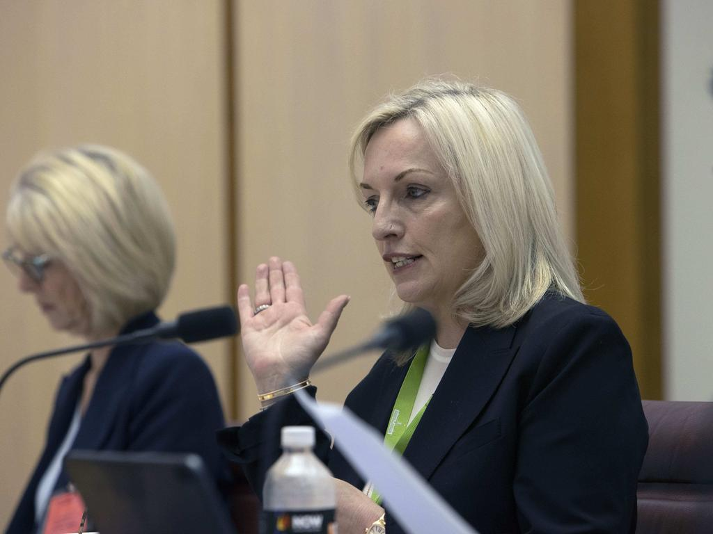 Australia Post chief executive Christine Holgate during Senate estimates in Canberra. Picture: NCA NewsWire / Gary Ramage