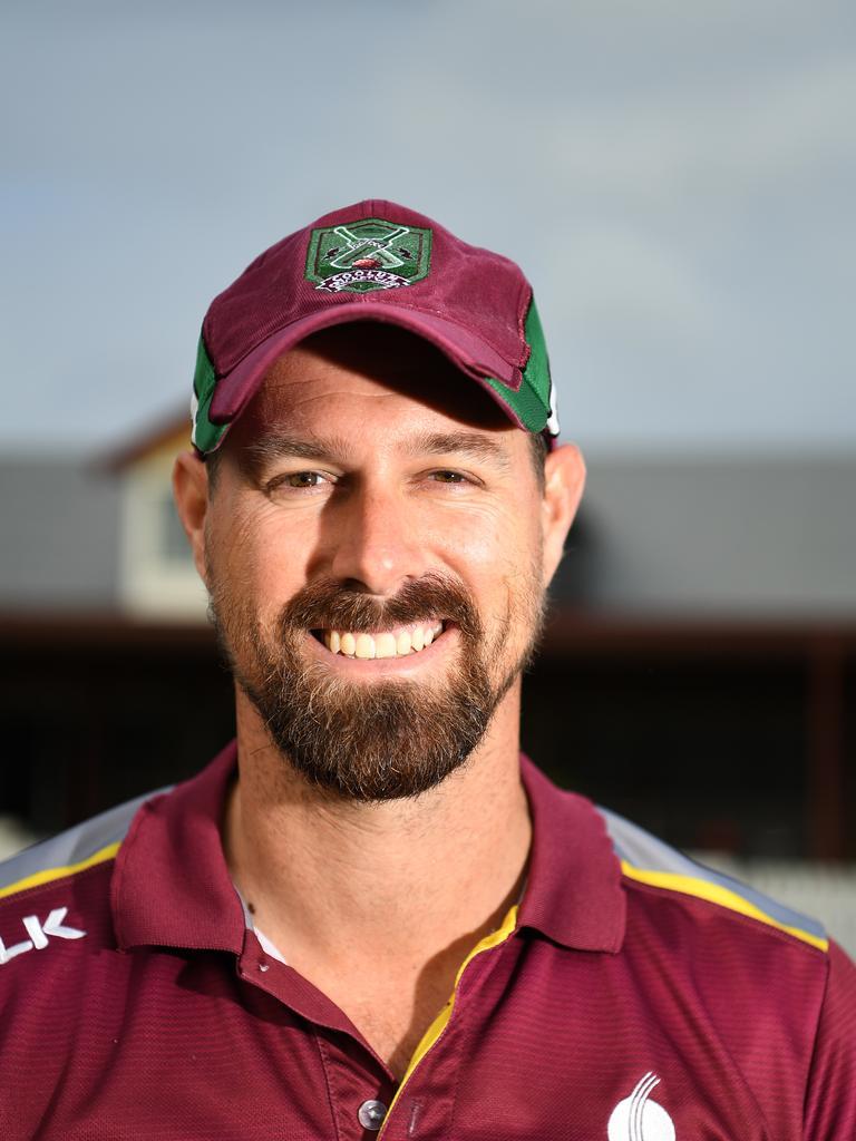 Coolum Cricket Club's Sam Curtis hit the Sharks maiden century. Picture: Warren Lynam