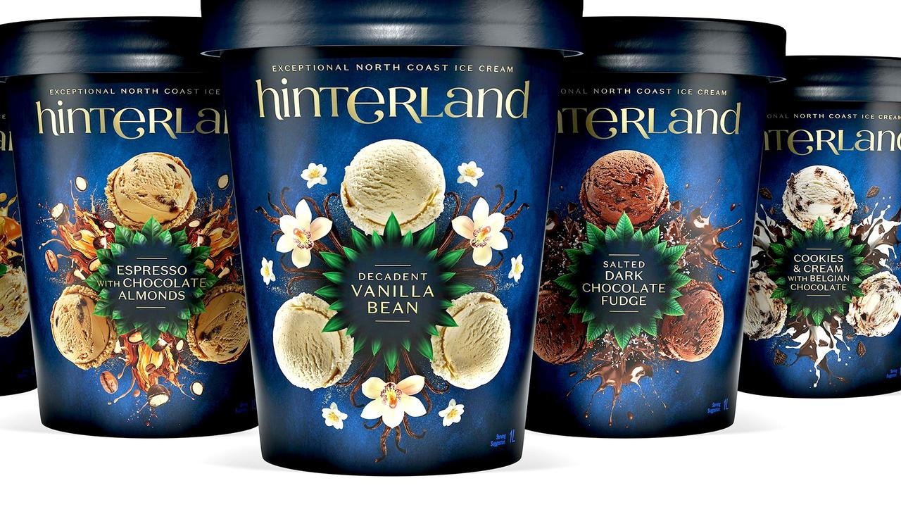 DECADENT DELIGHTS: Five sublime new flavours in Norco's new Hinterland premium ice cream range are available nationally.