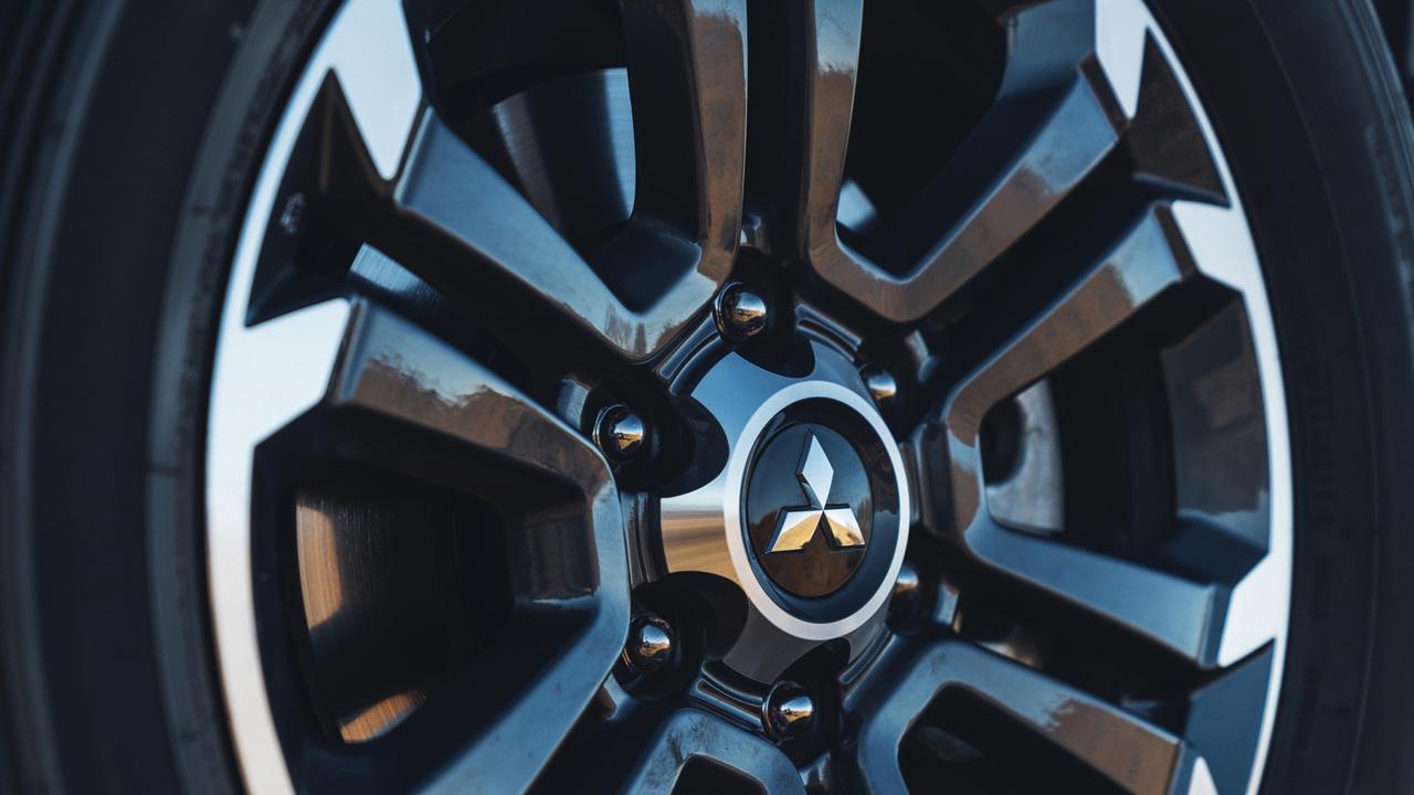 Alloy wheels are standard on the Mitsubishi Triton GLS.