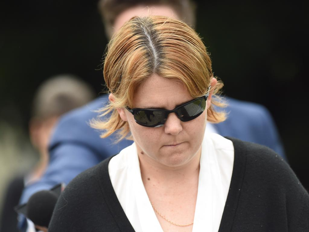 Melissa Quinn arrives at Casino Local Court on Wednesday, April 18, 2018. Picture: Marc Stapelberg/Northern Star