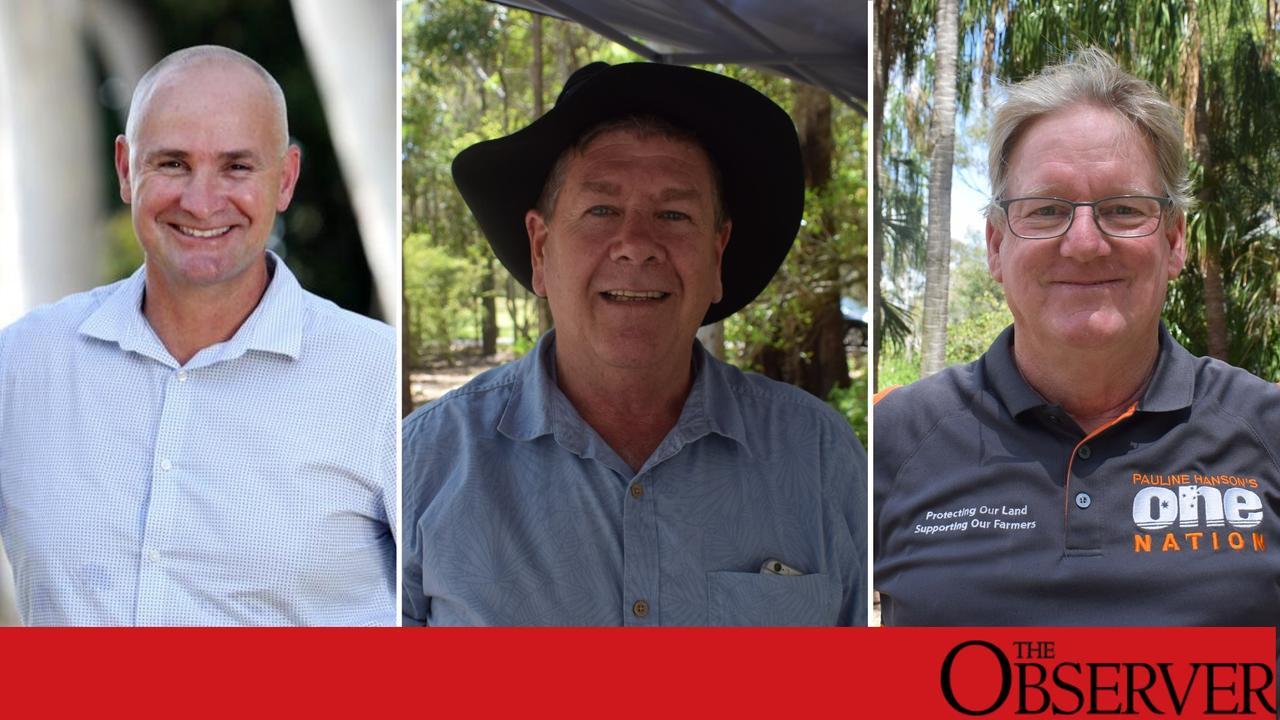 ALP Glenn Butcher, LNP Ron Harding, One Nation Kevin Jorgensen