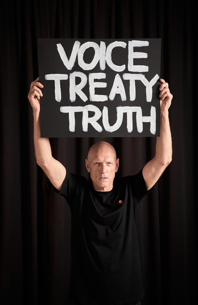 Peter Garrett being direct with the Makarrata Project message. Picture: Supplied/Daniel Boud