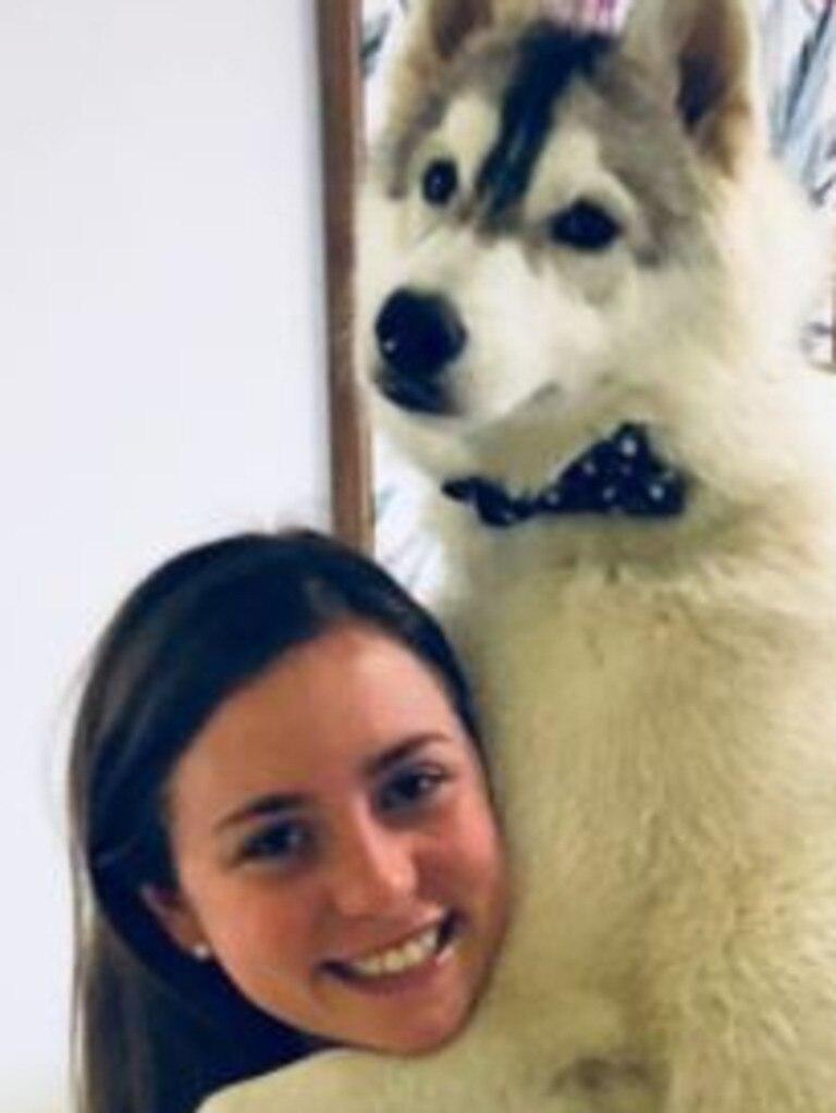 Shaune Martin with her hero husky, Max.