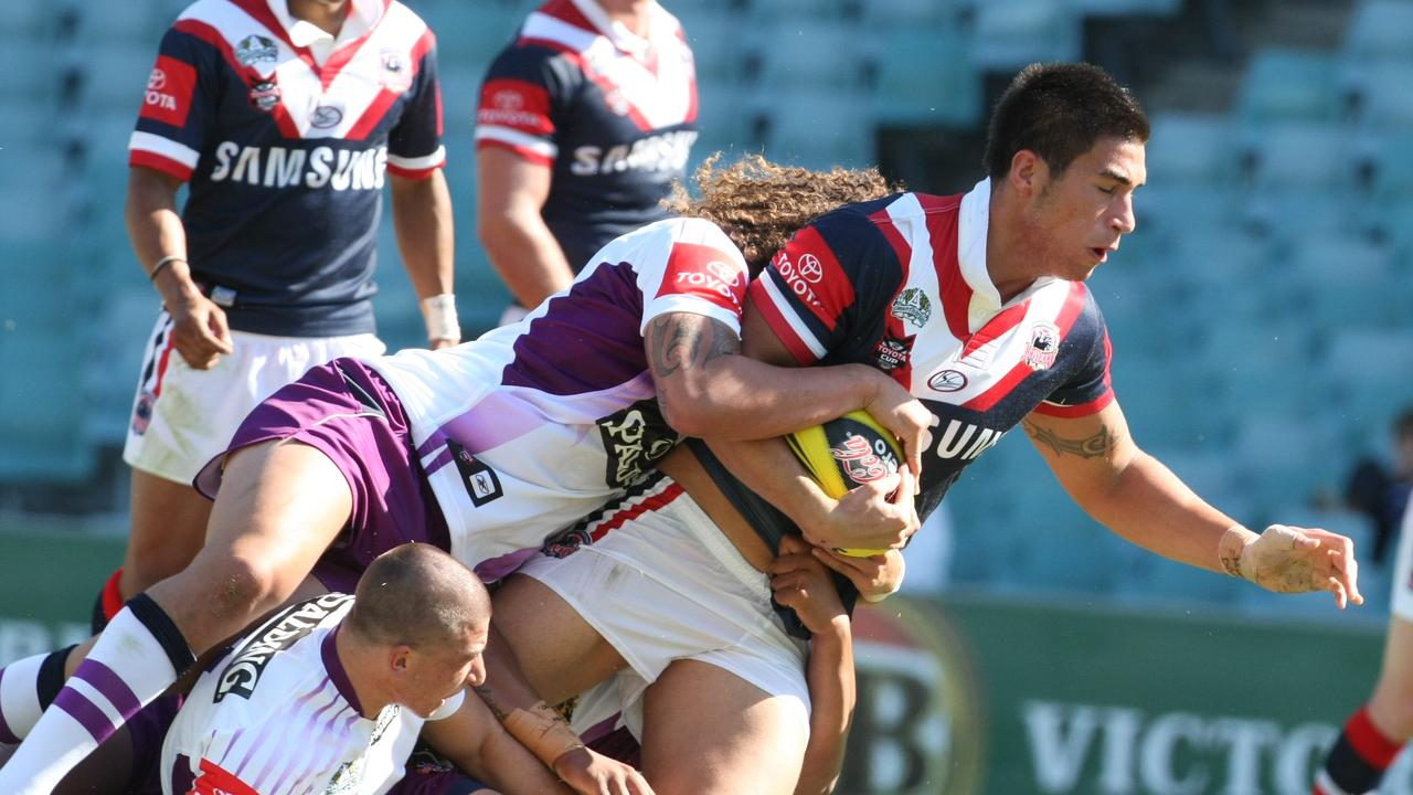 James Tamou is his junior Roosters days.