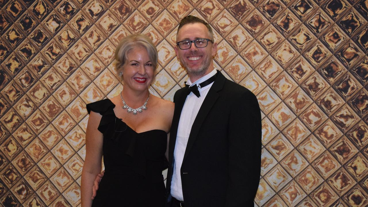 Jody Allen and Brendan Allen at the Gympie Business Awards.
