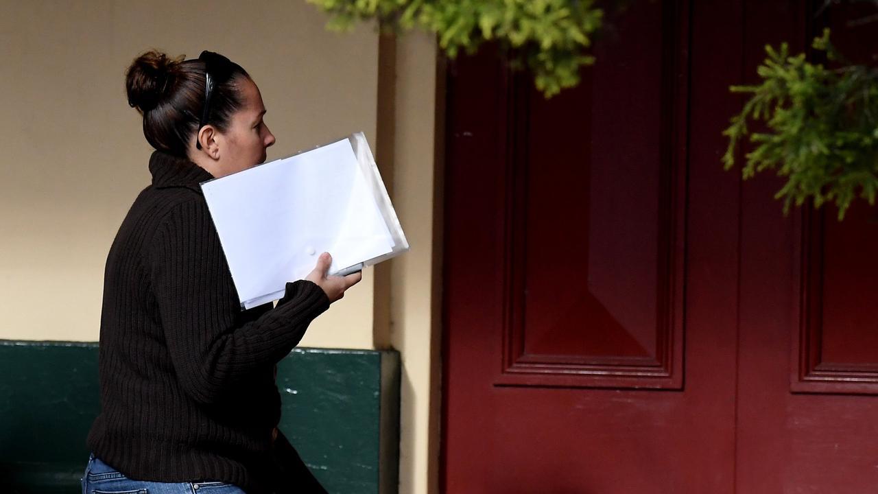 Belinda Nott attends court at Ballina Court House.