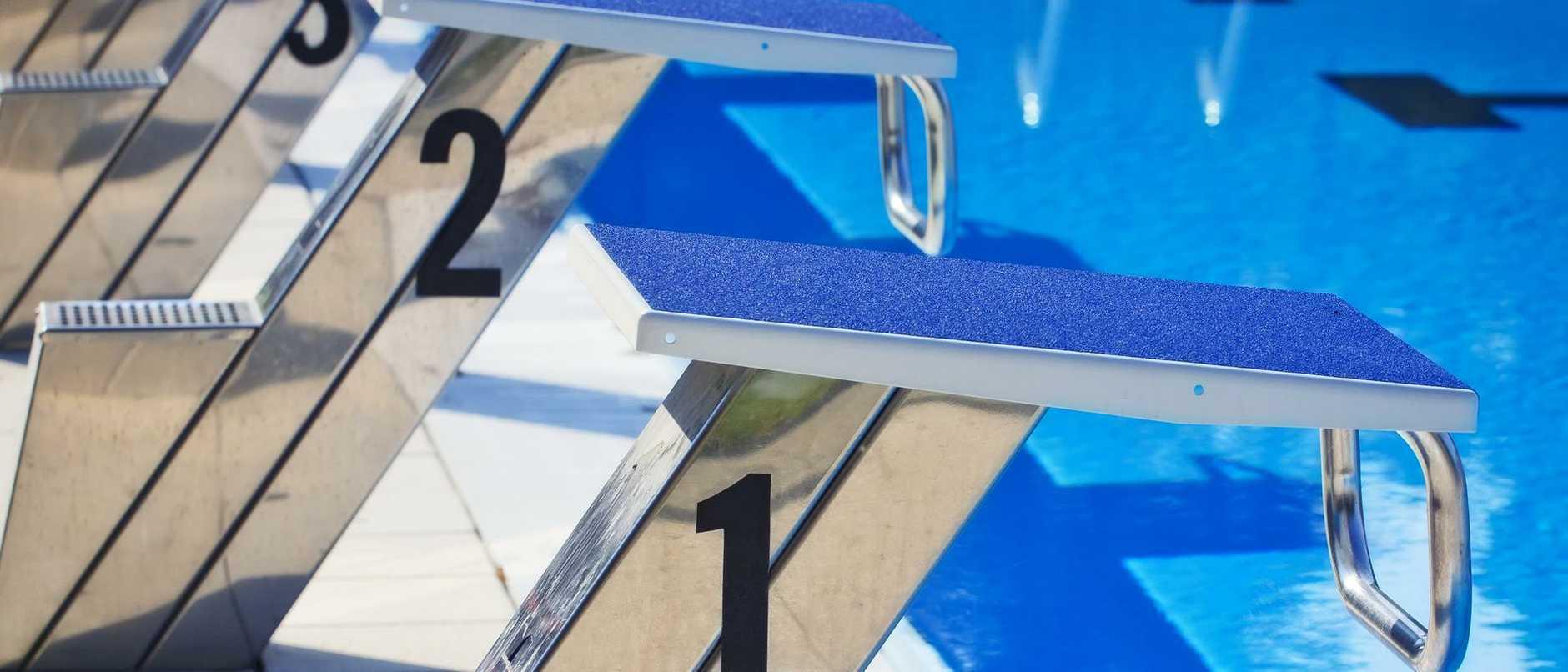Starting Blocks at swimming pool