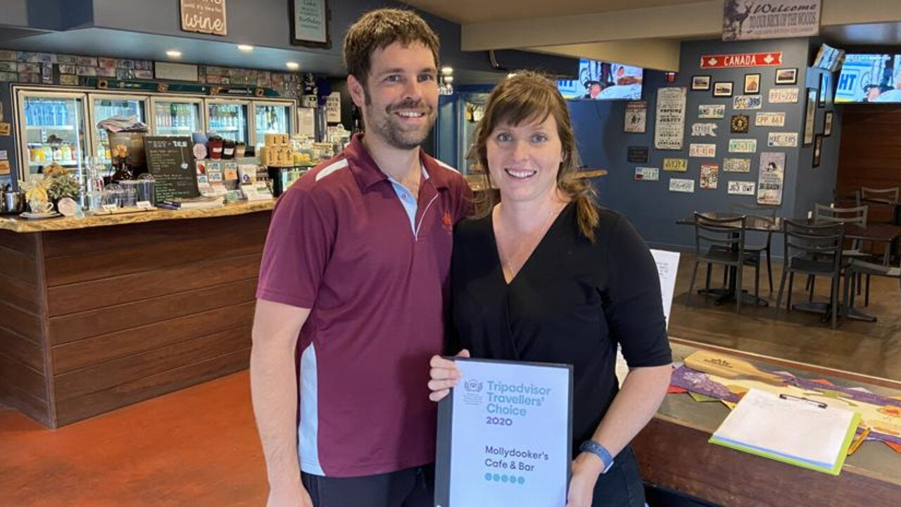 FIVE STAR SERVICE: Owners of Mollydookers Cafe and Bar Mike and Alana Vandenbrink.