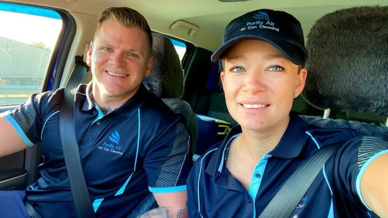 CLEAN AIR: Purify Air Wide Bay franchise owner Chad Pay and his partner Jade Holland.