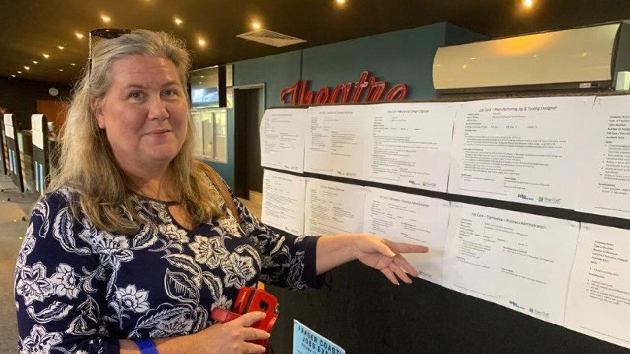 JOB EXPO: Maryborough job seeker Kelli Bosustow. Photo: Stuart Fast