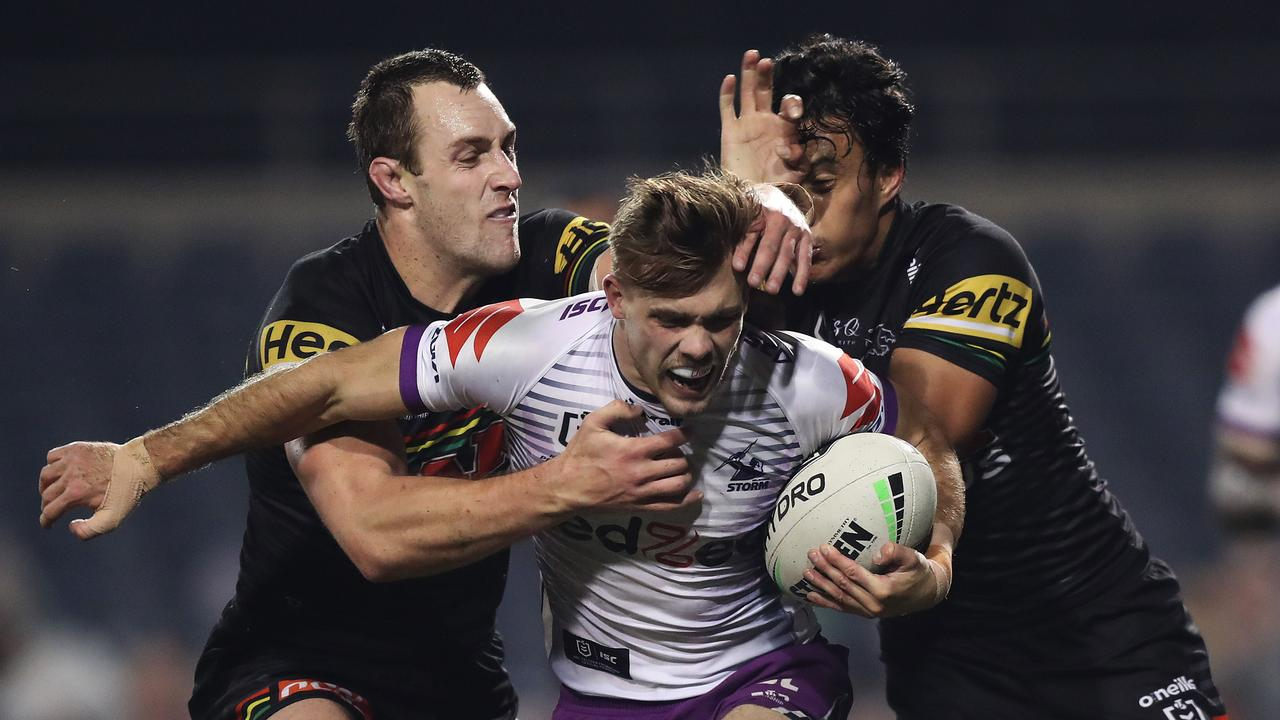 The Penrith Panthers and the Melbourne Storm will face off in Sunday's NRL grand final. Picture: Brett Costello