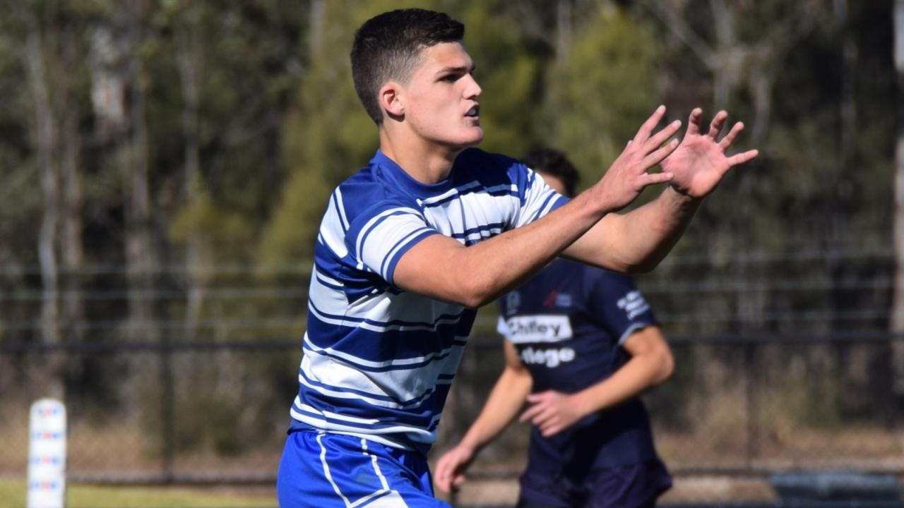 Nathan Cleary playing in the NRL Schoolboy Trophy for St Dominic's College.