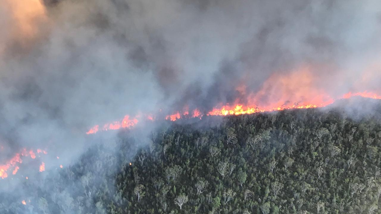 A bushfire is still burning at Fraser Island this afternoon. FILE PHOTO