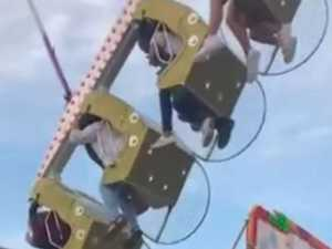 'Everyone was screaming': Moment woman falls from ride