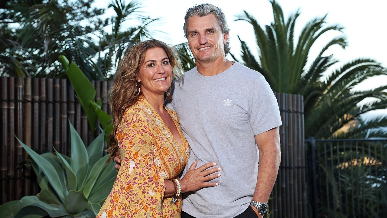 Penrith Panthers coach Ivan Cleary and his wife Bec, who hasn't been in close contact with her son Nathan for months. Picture: Tim Hunter