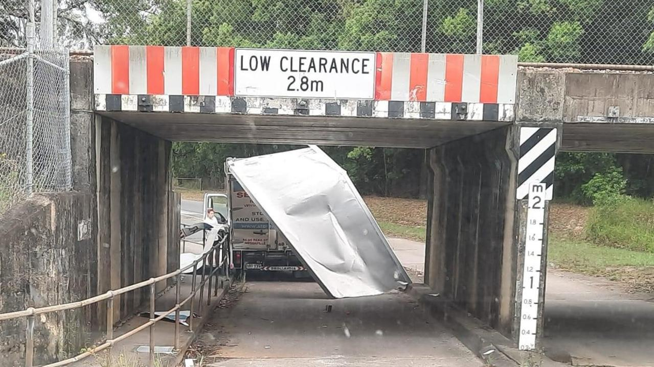 A truck has crashed into a bridge in Pomona. Photo: Melanie Barnes