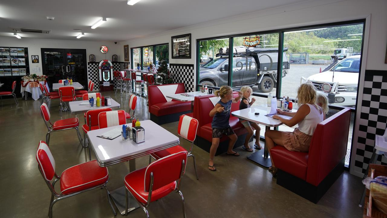 The retro-inspired Zarby's Cafe at Mt Ossa. Picture: @tripinavan, Mackay Tourism