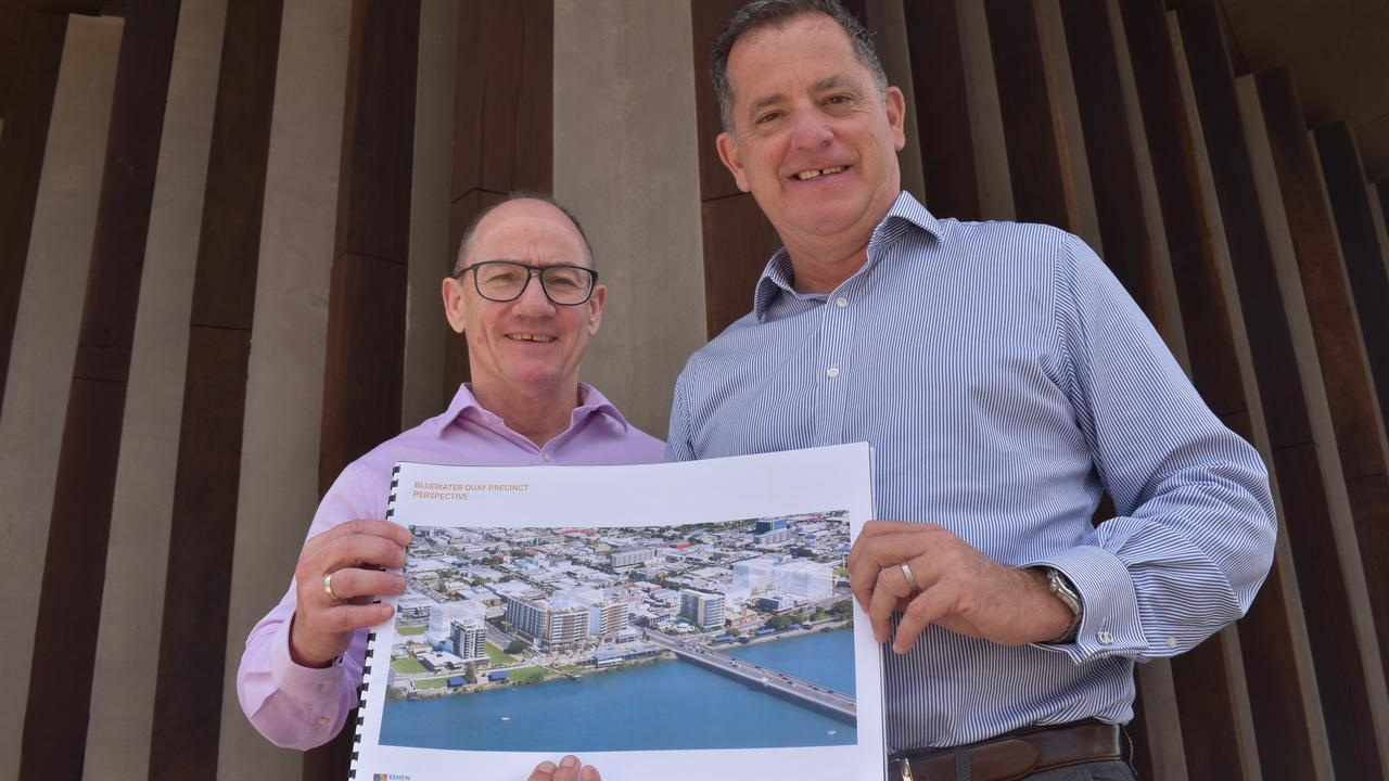 ReNew Mackay Pty Ltd directors Sean Kelly and Craig Percival were short-listed by Mackay Regional Council for their proposed development in the Waterfront Priority Development Area. Picture: Zizi Averill