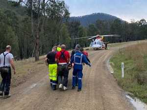 Trail rider with serious injuries rescued by chopper crew