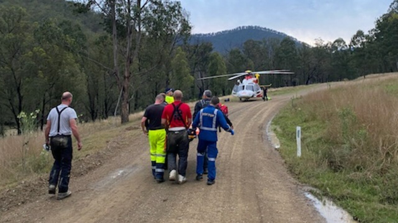 Westpac Chopper rescued an injured biker who activated an emergency beacon in a remote national park